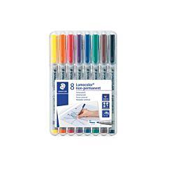 Staedtler Lumocolour Non-Permanent Marker Medium Pack of 8 Assorted