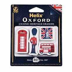 Helix Oxford Iconic Heritage Eraser Pack of 4