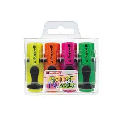 Edding Mini Highlighter Pack of 4