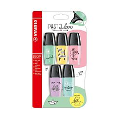 STABILO Boss Mini Pastel Love Highlighters Pack of 5