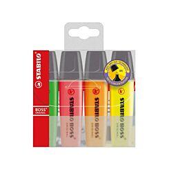 STABILO Boss Highlighter Fluorescent Pack of 4