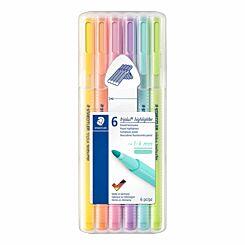 Staedtler Triplus Highlighter Pastel Pack of 6