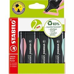 STABILO Green Boss Pastel Wallet Pack of 4