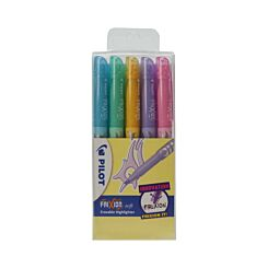 Pilot Frixion Soft Highlighters Pack of 5 Pastels