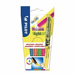 Pilot Frixion Light Erasable Highlighters Neon Pack of 6