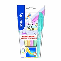Pilot Frixion Light Erasable Highlighters Pastel Pack of 6