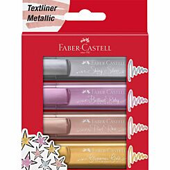 Faber Castell Metallic Highlighters Pack of 4