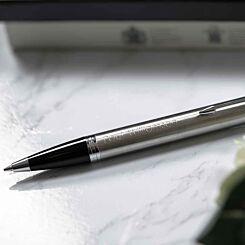 Personalised Parker IM Chrome Trim Stainless Steel Ballpoint Pen