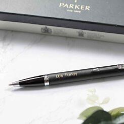 Personalised Parker IM Chrome Trim Black Ballpoint Pen