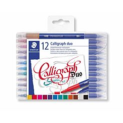 Staedtler Calligraphy Duo Tip Pens Pack of 12