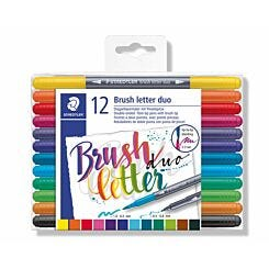 Staedtler Brush Lettering Duo Tip Pens Pack of 12