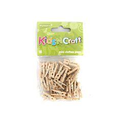 Ryman Activity Kit Mini Wooden Pegs