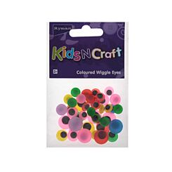 Ryman Activity Kit Wiggle Eyes Coloured