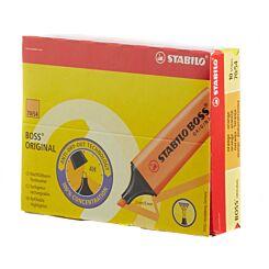 STABILO Boss Highlighter Fluorescent Pack of 10 Orange