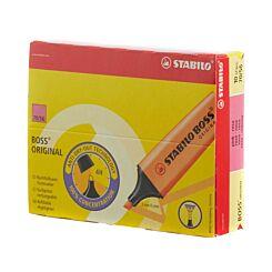 STABILO Boss Highlighter Fluorescent Pack of 10 Pink