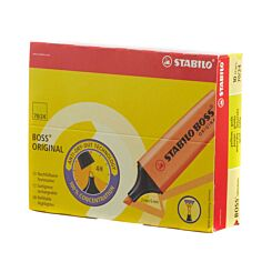 STABILO Boss Highlighter Fluorescent Pack of 10 Yellow