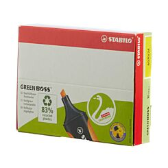 STABILO Green Boss Box Pack of 10 Yellow