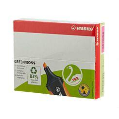 STABILO Green Boss Box Pack of 10 Pink