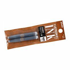 Platinum Preppy Ink Cartridges Pack of 2 Brown