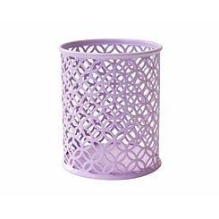Ryman Geometric Metal Pen Pot Pastel Purple