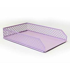Ryman Geometric Metal Letter Tray A4 Pastel Purple