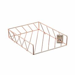 Ryman Metal Letter Tray Rose Gold
