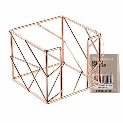 Ryman Metal Memo Holder Rose Gold