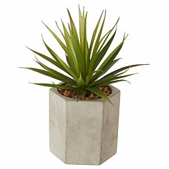 Interiors by PH Large Faux Sword Grass in Ceramic Pot