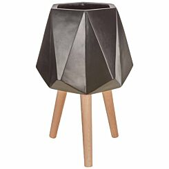 Interiors by PH Large Multi-Faceted Planter Black