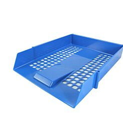 Deflecto Contract Letter Tray Blue