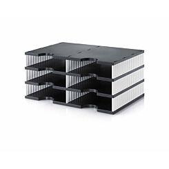 Styrodoc Duo Desktop Organiser 6 Drawer