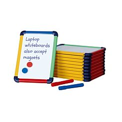 Coloured Frame Laptop Magnetic Whiteboard A4 Pack of 10