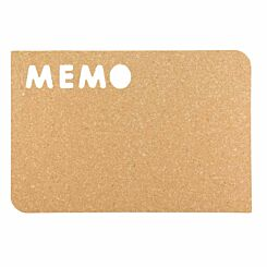 Securit Silhouette Memo Cork Board