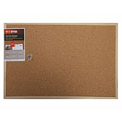 Bi-Office Cork Notice Board 900x600mm Pine