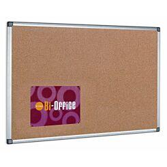 Bi-Office Cork Notice Board 600x450mm Aluminium