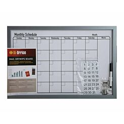 Bi-Office Dry Wipe Monthly Planning Board with Pen 600x400mm