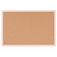 Cork Board Pastel Frame 600x400mm Salmon