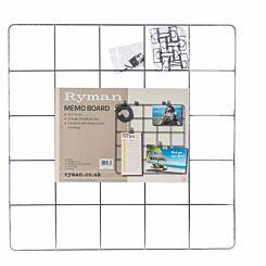 Ryman Memo Board 500x500mm and Clips Black