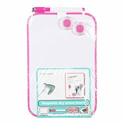 Magnetic Dry Erase Board 15.3x23cm Pink