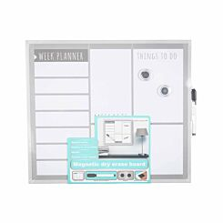 Magnetic Dry Erase Weekly Planner Board