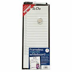 Frameless To Do Magnetic Whiteboard 152mm x 355mm