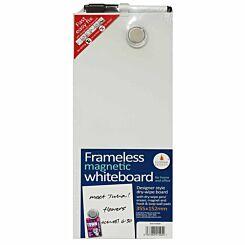 Frameless Blank Magnetic Whiteboard 152mm x 355mm