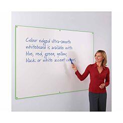 Metroplan WriteOn Coloured Edge Whiteboard 1200 x 1500mm Green