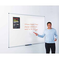 Metroplan WriteOn Vitreous Enamel Steel Whiteboard 1200 x 900mm