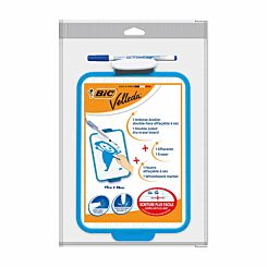 BiC Velleda Single Sided Whiteboard 19 x 26cm with Pen and Eraser