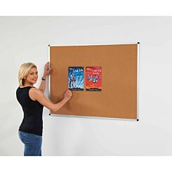 Metroplan Aluminium Framed Cork Noticeboard 1200 x 1800mm