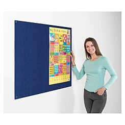 Metroplan Eco-Colour Frameless Flame Resistant Noticeboard 600 x 900mm Blue