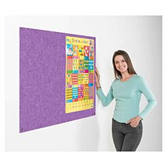 Metroplan Eco-Colour Frameless Flame Resistant Noticeboard 1200 x 1500mm Purple