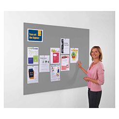 Metroplan Frameless Felt Noticeboard 600 x 900mm Grey