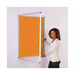 Metroplan ColourPlus Tamperproof Noticeboard 900 x 600mm Orange